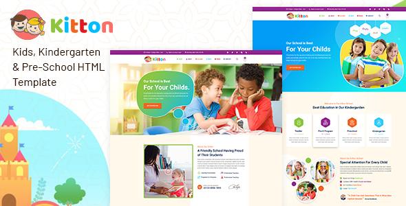 Kitton – Kids Kindergarten And Pre-School HTML Template