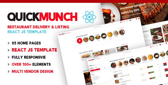 Quickmunch | Restaurant Listing React Template