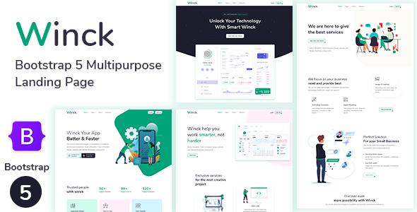 Winck – Bootstrap 5 Multipurpose Landing Page