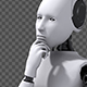 Android Robot Thinking - VideoHive Item for Sale