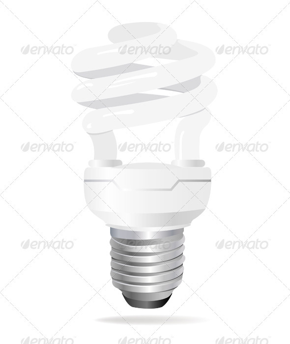 Energy saving light bulb - Man-made Objects Objects