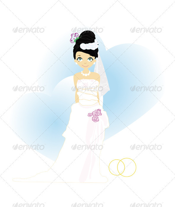 Elegant bride in blue - Weddings Seasons/Holidays