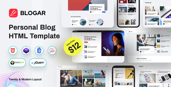 Blogar – Blog Magazine Template