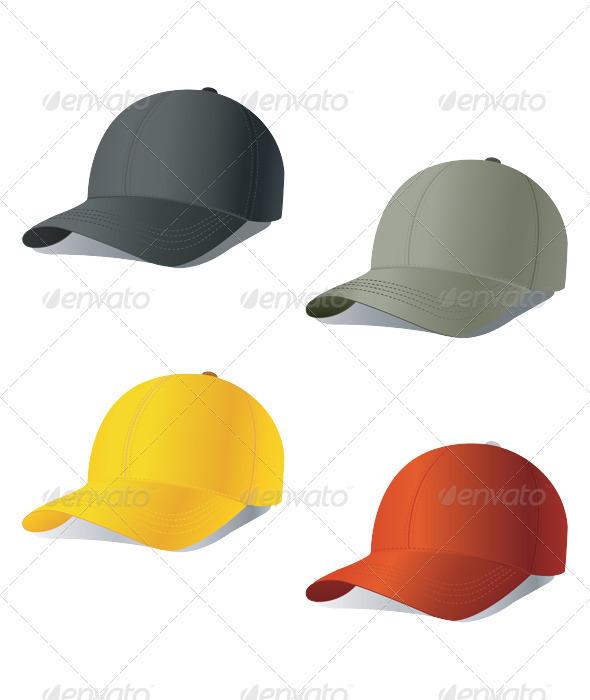 Set of baseball cap - Sports/Activity Conceptual
