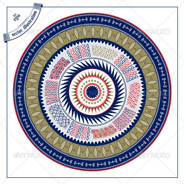 Circle Lace Pattern Background - Decorative Symbols Decorative