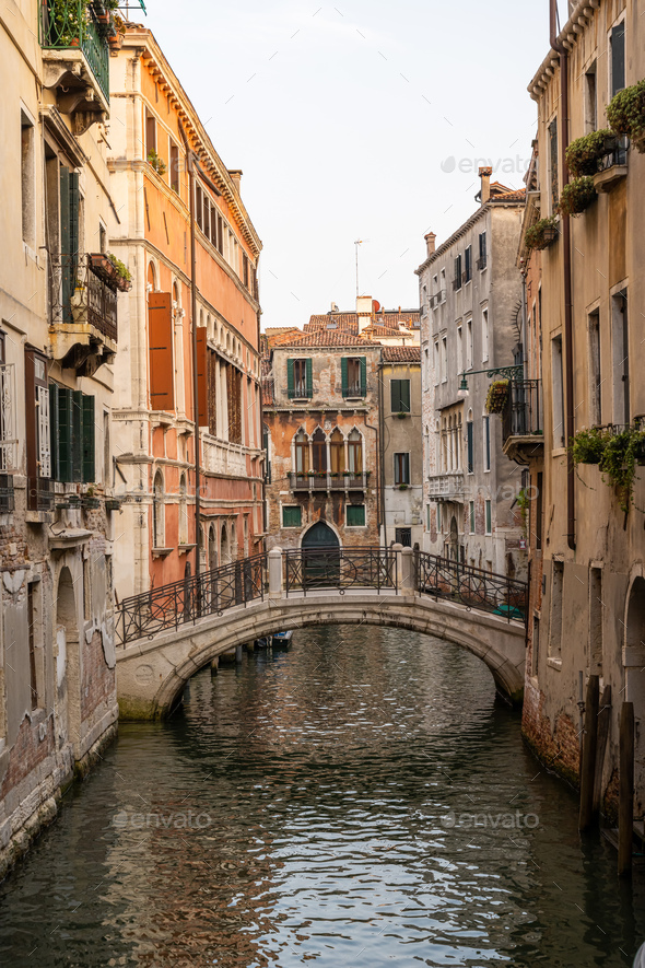 One of the countless beautiful small canals - Stock Photo - Images