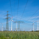 Power lines, electricity pylons and wind turbines - PhotoDune Item for Sale