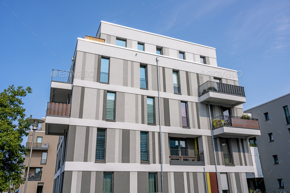 Modern residential building - Stock Photo - Images