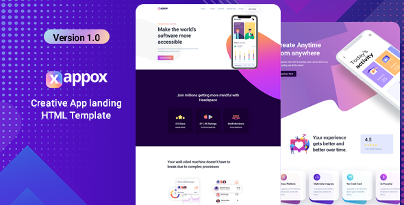 Exceptional Xappox - App Landing Page