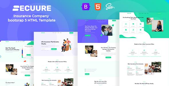 Incredible Secuure - Insurance Company bootsrap 5 HTML Template