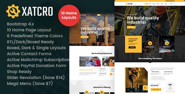 Xatcro - Factory Industrial HTML