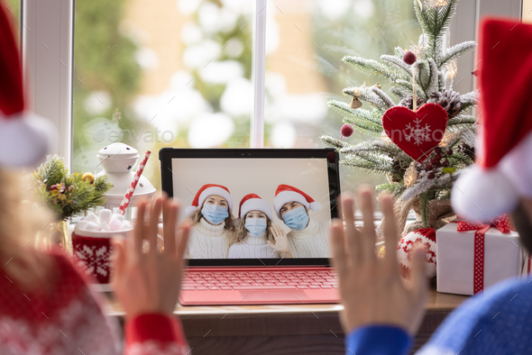 Christmas holiday during pandemic coronavirus COVID 19 concept - Stock Photo - Images