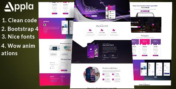 Appla - app landing page