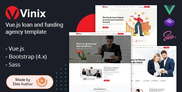 Vinix - Vue.js Loan & Funding Company Template