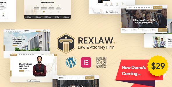 Rexlaw – Law & Attorney WordPress Theme