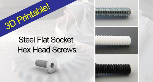 Steel Flat Socket Hex Head Screws