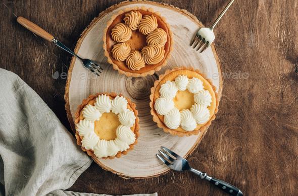 Mini New York Cheesecakes - Stock Photo - Images