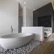 Modern Bathroom Interior with Wooden Floor 2217013 - PhotoDune Item for Sale