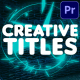 Creative Titles | Premiere Pro MOGRT - VideoHive Item for Sale