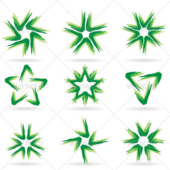 Set of different stars icons #14. - Decorative Symbols Decorative