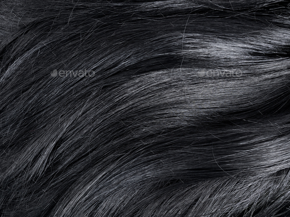 Wavy black hair - Stock Photo - Images