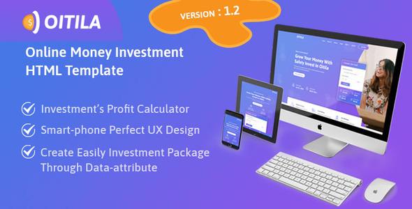 Oitila - Online Money Investment HTML Template