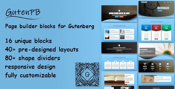 GutenPB - Page builder blocks for Gutenberg