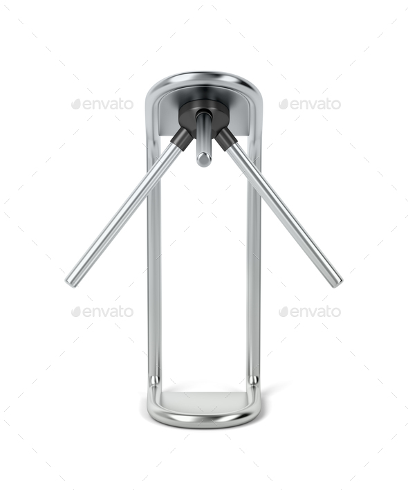 Silver turnstile - Stock Photo - Images