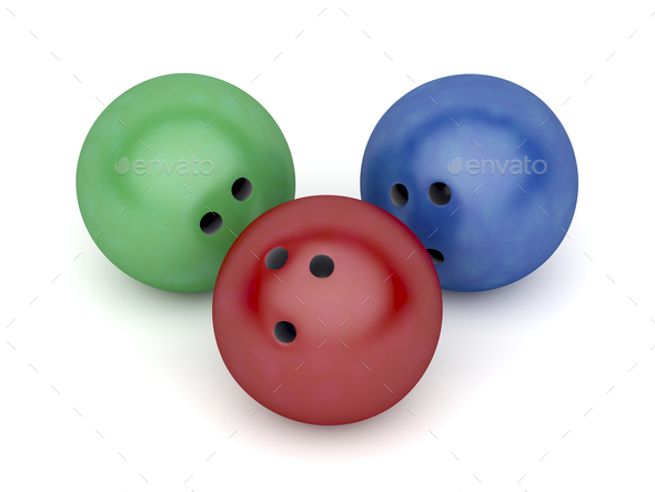 Three bowling balls - Stock Photo - Images