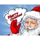 Blinking Santa Claus with Hand Up