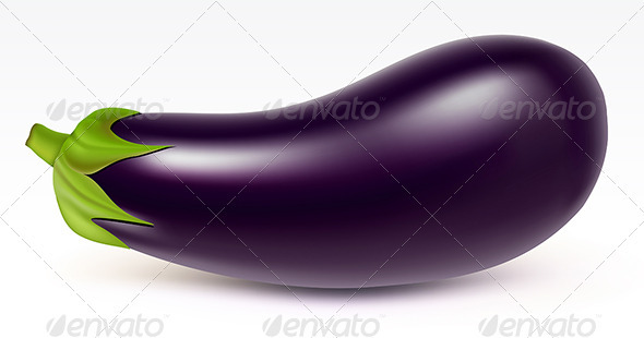 Big aubergine - Food Objects