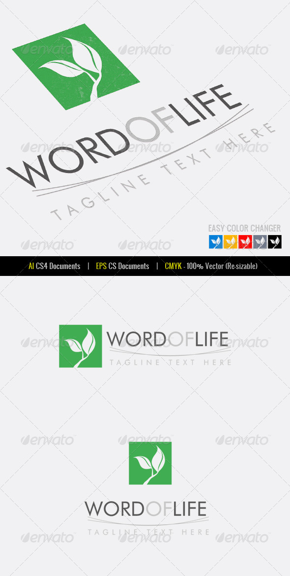 Word of Life Logo Template - Nature Logo Templates