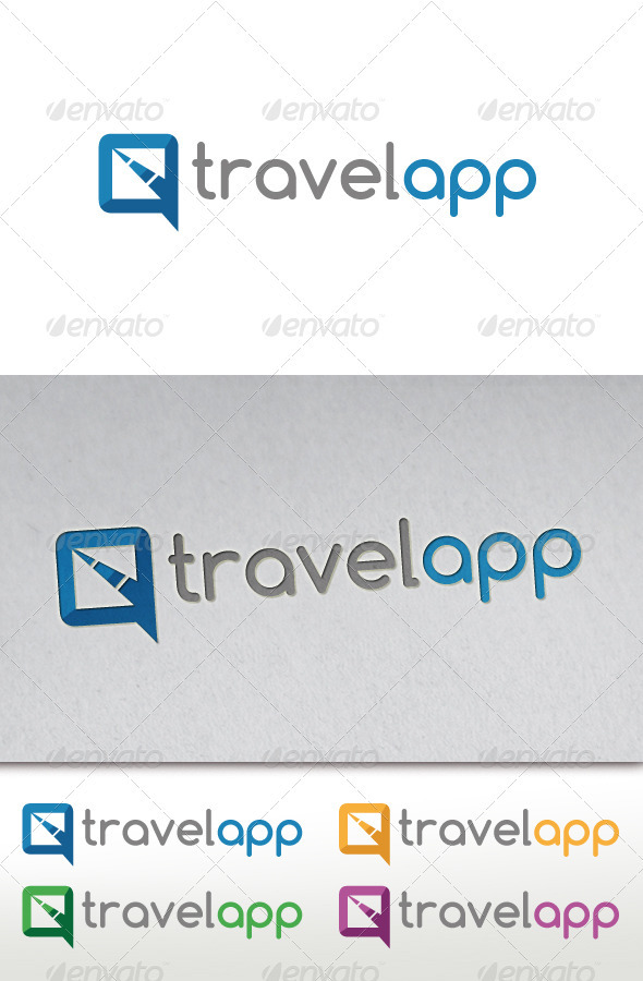 Travel App Logo - Vector Abstract