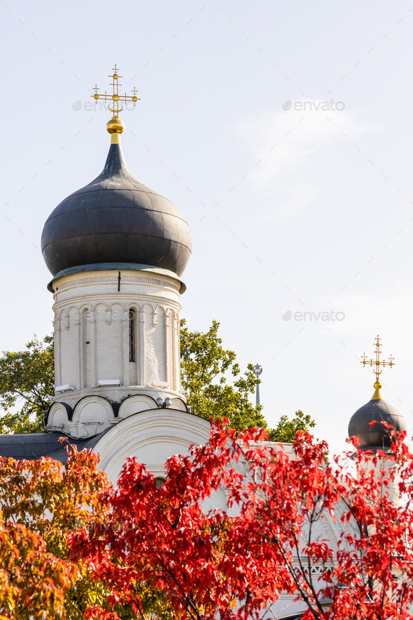 dome Church of Conception of Saint Anne in Moscow - Stock Photo - Images