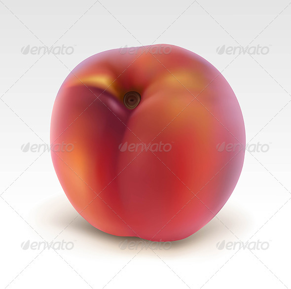 Ripe peach  - Food Objects