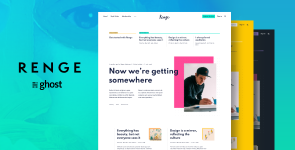 Renge - Creative Ghost Blog Theme