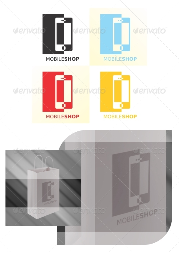 Mobile Shop Logo Template - Objects Logo Templates
