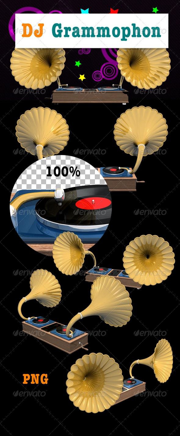 DJ Grammophon - 3D Renders Graphics