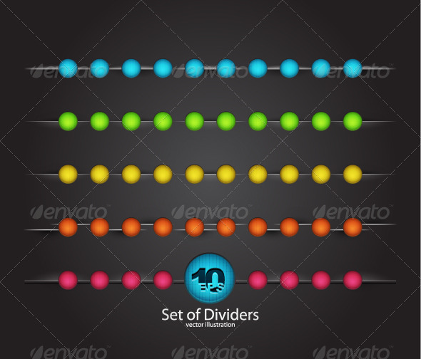 Color Vector Dividers - Borders Decorative