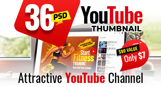 36-Youtube Thumbnail Templates