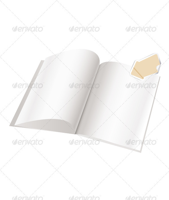 Magazine blank page template with arrow for design - Objects Vectors