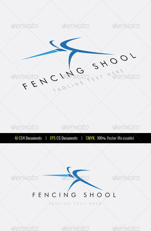 Fencing School Logo Template - Symbols Logo Templates