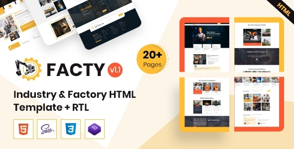 Facty - Industry & Factory HTML Template