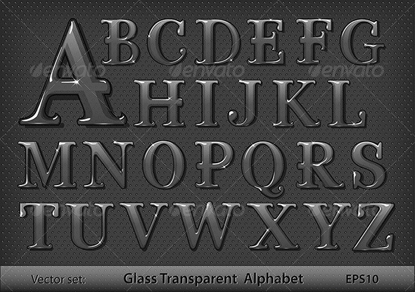 Glass alphabet - Decorative Symbols Decorative