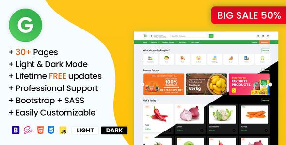 Grofarweb - Online Grocery Supermarket HTML Template