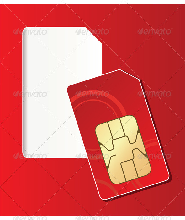 SIM card  - Technology Conceptual