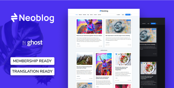 Neoblog - Masonry Ghost Blog and Magazine Theme