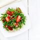 Salad of strawberry and couscous on light board top - PhotoDune Item for Sale