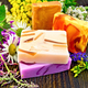 Soap homemade with flowers on board - PhotoDune Item for Sale
