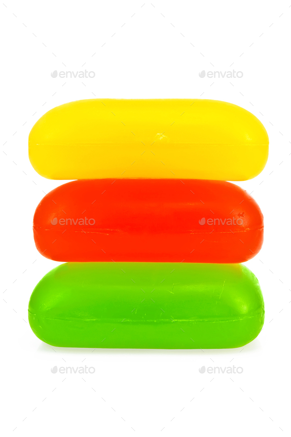 Three of soap in the stack - Stock Photo - Images